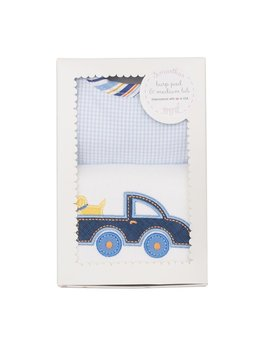 BURP CLOTH Truck Bib & Burp Boxed Set