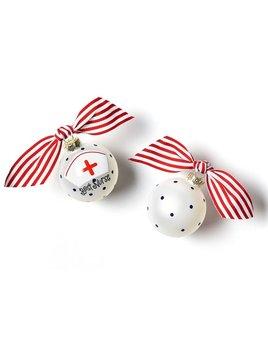 Nurse Glass Ornament