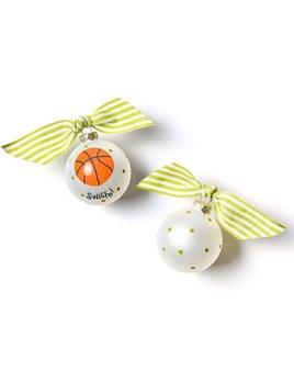 Basketball Glass Ornament