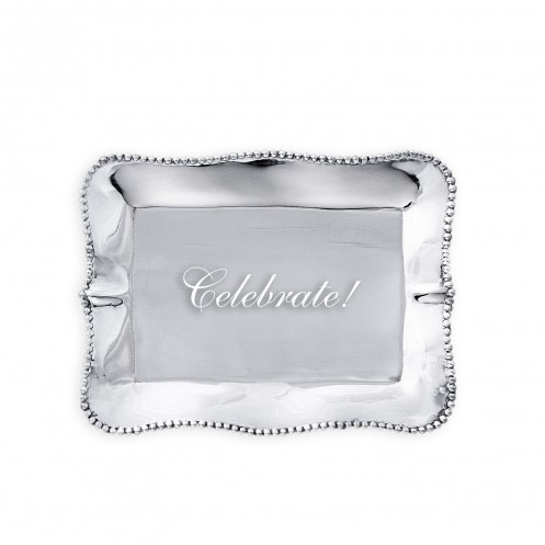 TRAY Pearl Rectangle Engraved Tray - Celebrate!