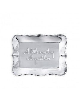 TRAY Pearl Rectangle Engraved Tray - A Little Something