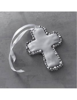 Baby Pearl Cross Oranament