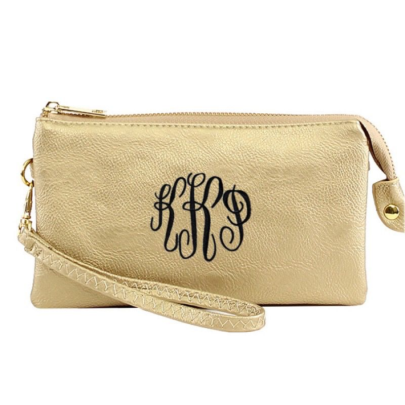 Clutch Monogrammed Cluth Crossbody Bag