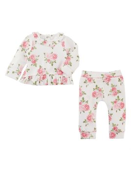 Floral Ruffle Two-Piece Set