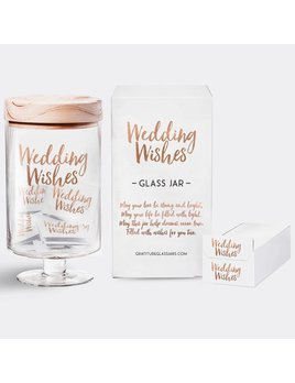JAR Wedding Wishes Glass Jar