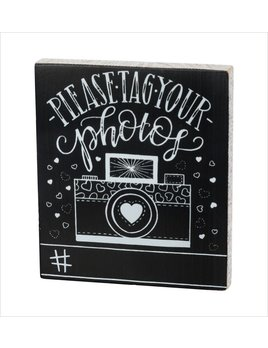Sign Chalk Board - Please Tag Your Photos #