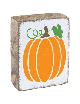 White Tumbling Block, Orange Pumpkin