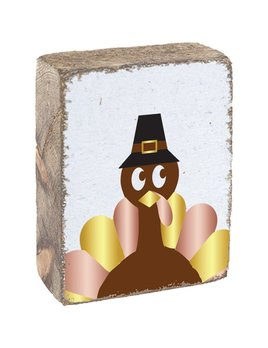 White Tumbling Block, Turkey with Hat
