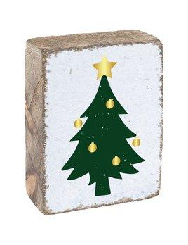 White Tumbling Block, Christmas Tree
