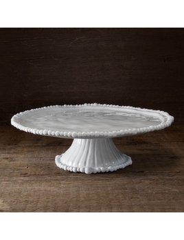 CAKE STAND Vida Alegria Pedestal Cake Plate White