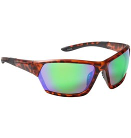 Fisherman Eyewear Breeze (Green Mirror Lens) Soft Touch Matte Tortoise Frame