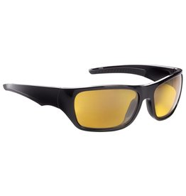 Fisherman Eyewear Backwater (Amber Lens) Shiny Black Frame