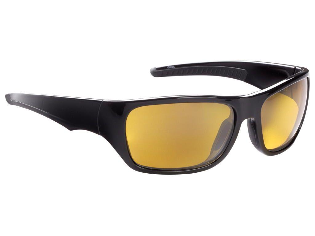 Fisherman Eyewear Backwater Shiny Black Frame Amber Lens