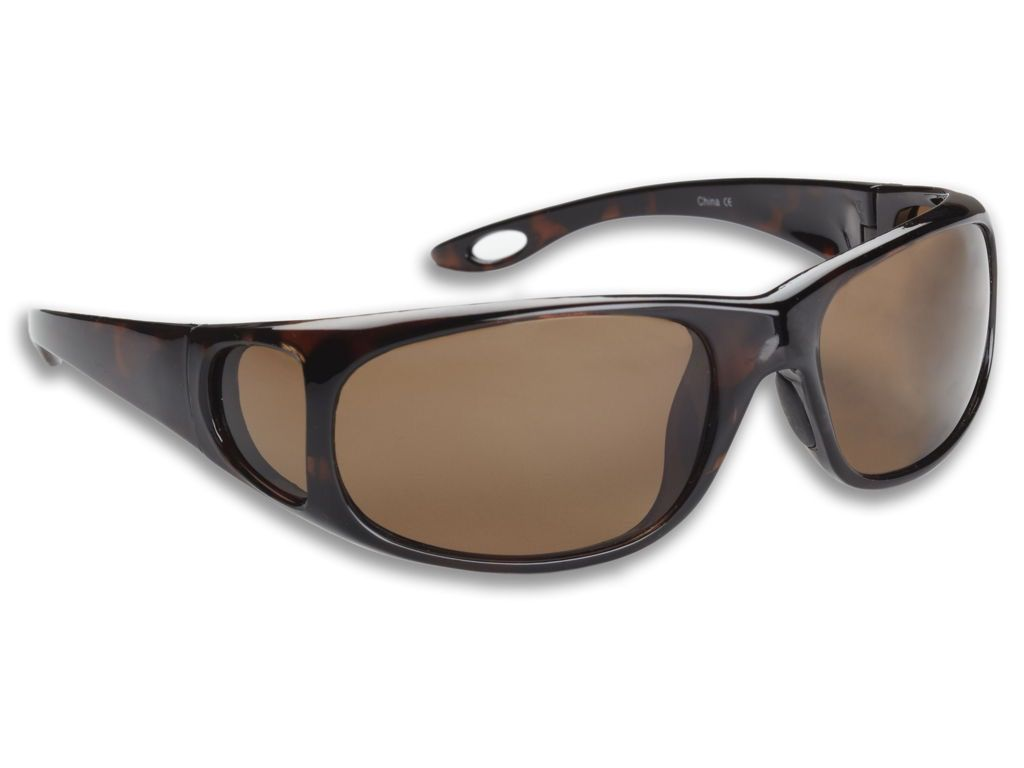 Fisherman Eyewear Grander Shiny Tortoise Frame Brown Lens