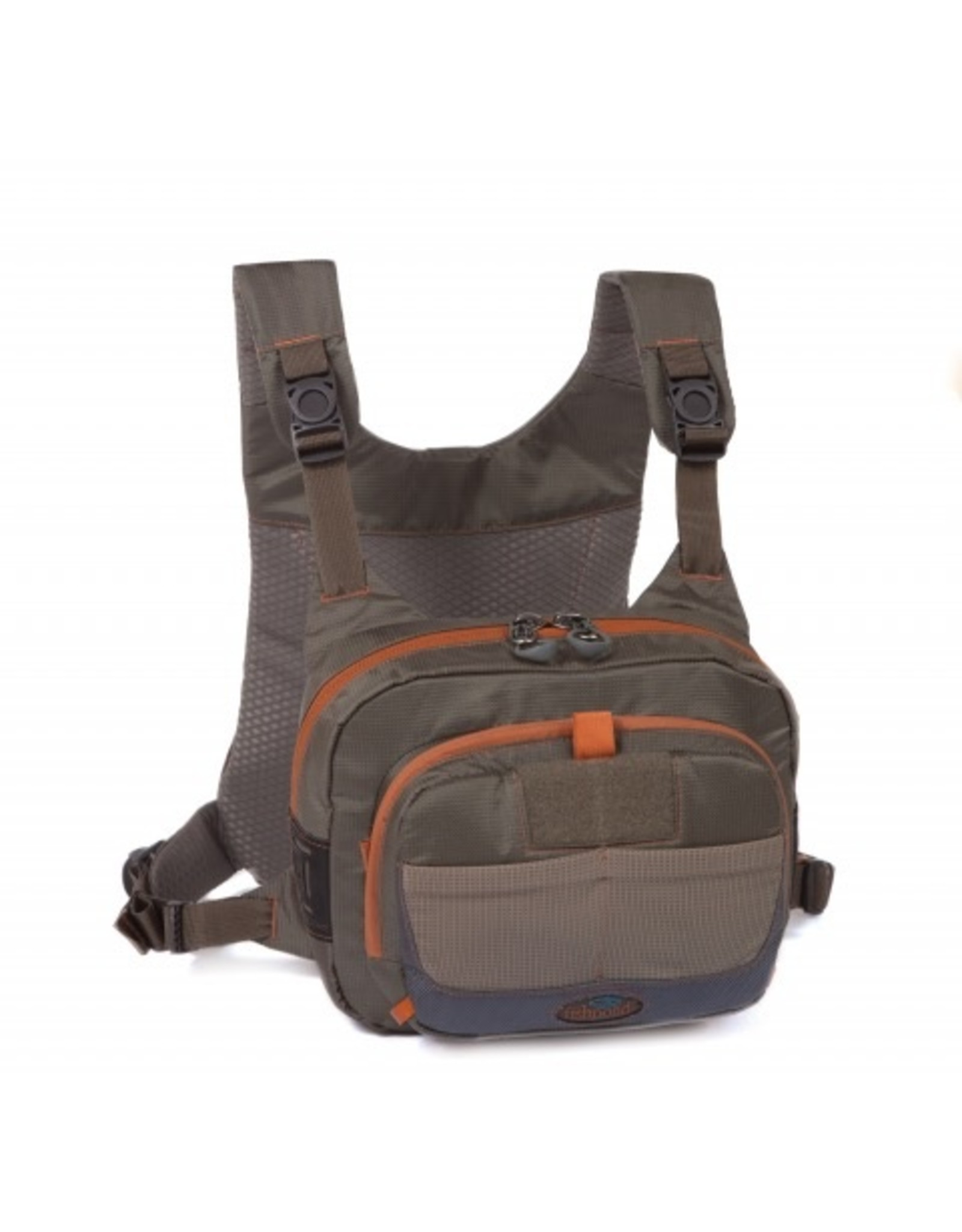 THE CROSS-CURRENT CHEST PACK IS DESIGNED TO KEEP ALL YOUR ESSENTIALS AND BOXES ORGANIZED, KEEPING THEM HIGH ON YOUR BODY AT THE READY.