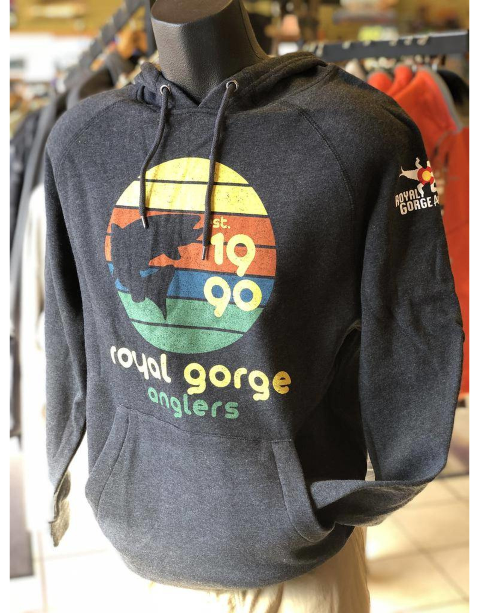 A comfortable everyday hoody to show your fly fishing pride!