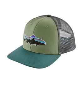 Patagonia Kids' Fitz Roy Trucker Hat Matcha Green
