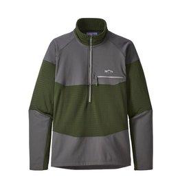 Patagonia Men&#039;s Long-Sleeved R1® Fitz Roy 1/4-Zip<br /> Nomad Green