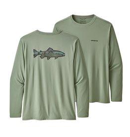 Patagonia Men's Long-Sleeved Capilene® Cool Daily Fish Graphic Shirt   Celadon