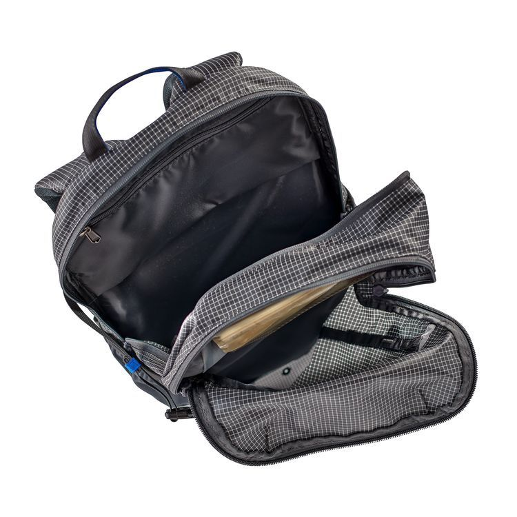 The ultimate pack vest for travel or angling that requires extended hiking; pack volume is 25 liters.