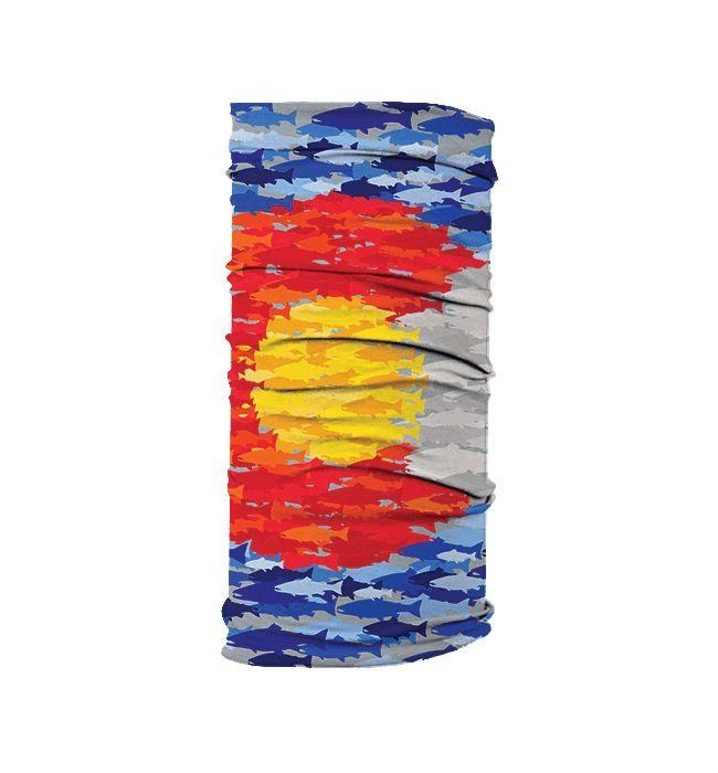 Rep Your Water Colorado Mosaic Fish Mask