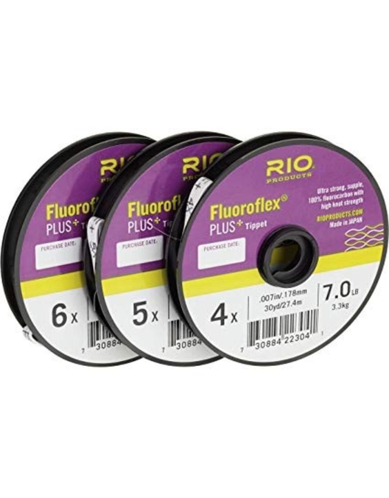 Rio Fluoro flex Plus Tippet (3 Pack, 4X, 5X, 6X