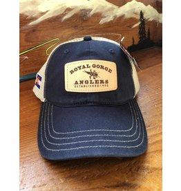 RGA Leather Patch Trucker- Soft Mesh (Navy/ Khaki)