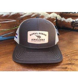 RGA Leather Patch Hat (Brown/ Khaki)