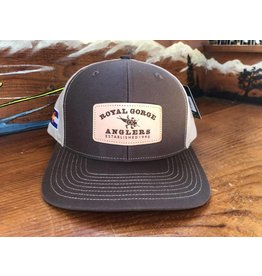 Stonebug Leather Patch Hat (Brown/ Khaki)