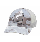 Simms Tarpon Icon Trucker Hat Cloud Camo Grey