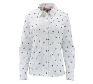 Simms Women's Isle Shirt White Fly All