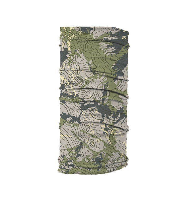 Rep Your Water Topo Camo Fish Mask