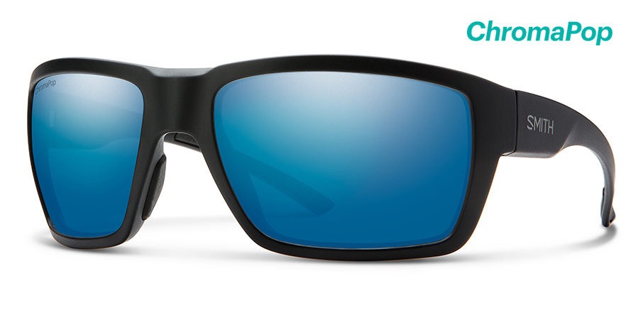 Smith Highwater Matte Tortoise ChromaPop+ Polarized Blue Mirror