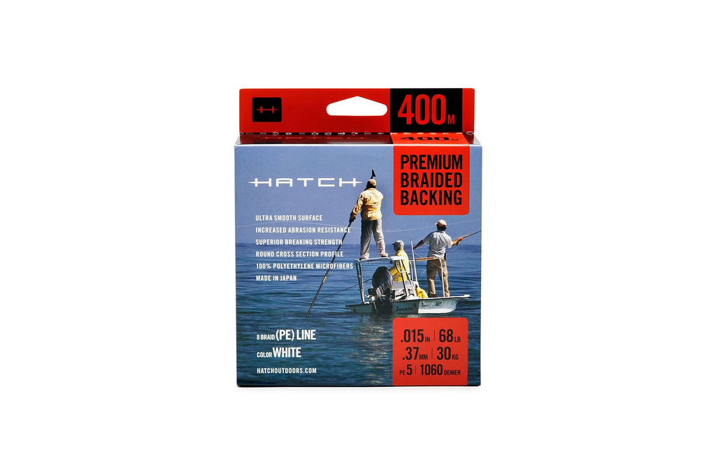 Hatch Premium Backing 68lb. 400 meter orange