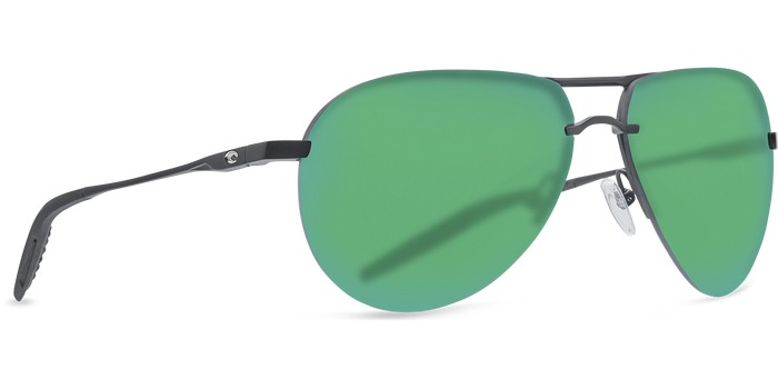 Costa Helo Matte Black Green Mirror 580P