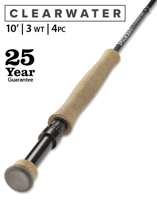 Impressive sensitivity, feel, and control are perks of the Clearwater 3-Weight 10' Fly Rod