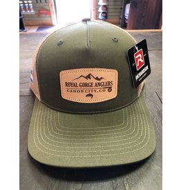 RGA Leather Patch Trucker (Army Olive/ Tan)