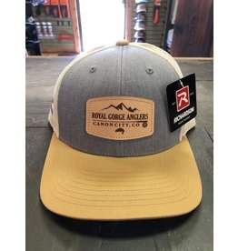 RGA Leather Patch Trucker- LoPro (Heather Grey/ Gold)