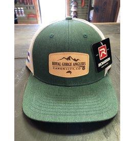 RGA Leather Patch Trucker- LoPro (Dark Green/ Lt Grey)
