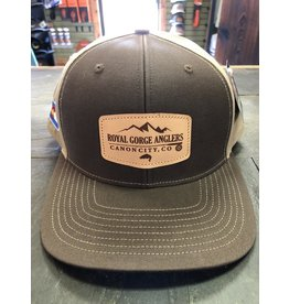 RGA Leather Patch Hat (Brown/ Khaki)