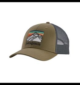 Patagonia Line Logo Ridge LoPro Trucker Hat Sage Khaki