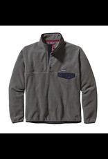 Patagonia Men's Lightweight Synchill Snap-T Fleece Pullover Nickel w/Navy Blue