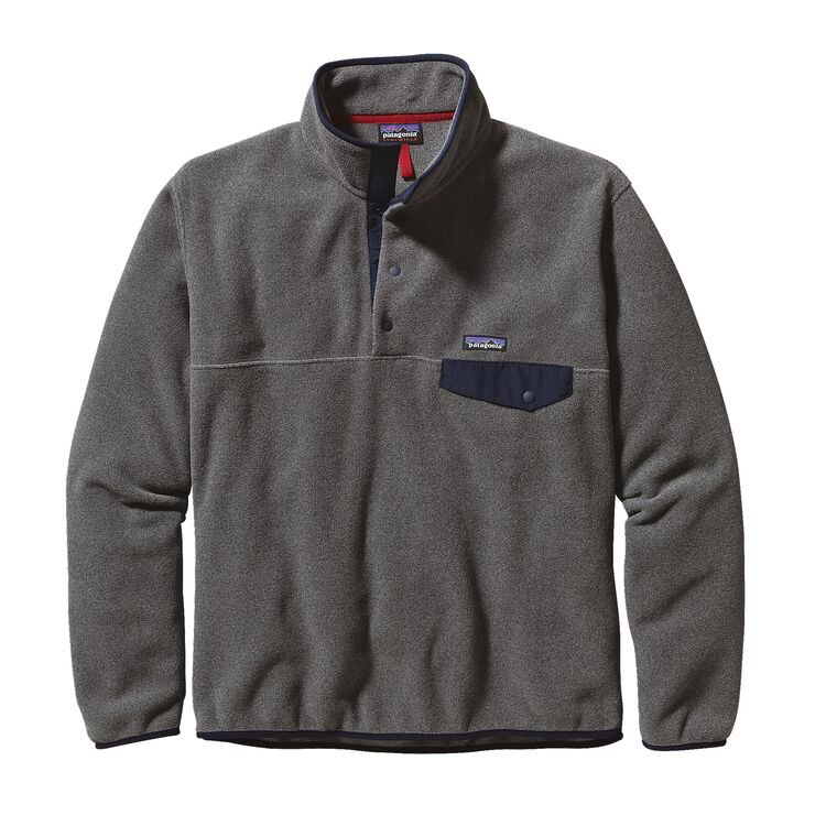 Patagonia Men's Lightweight Synchill Snap-T Fleece Pullover Nickel w/Navy Blue