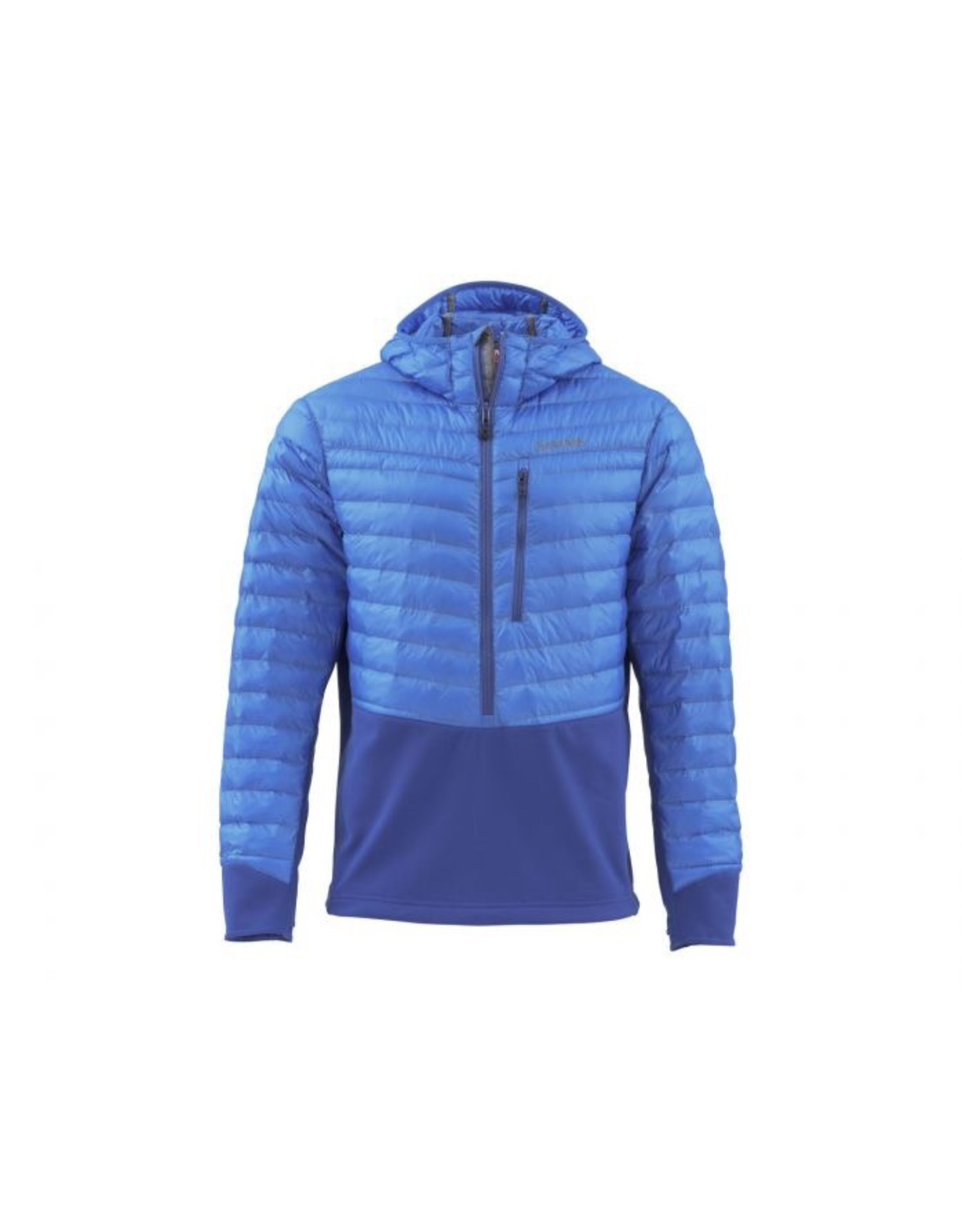 This water-shedding insulated pull-on hoody features stitchless quilt construction and a stretch-fleece lower for the perfect under-wader or bibs layering piece.