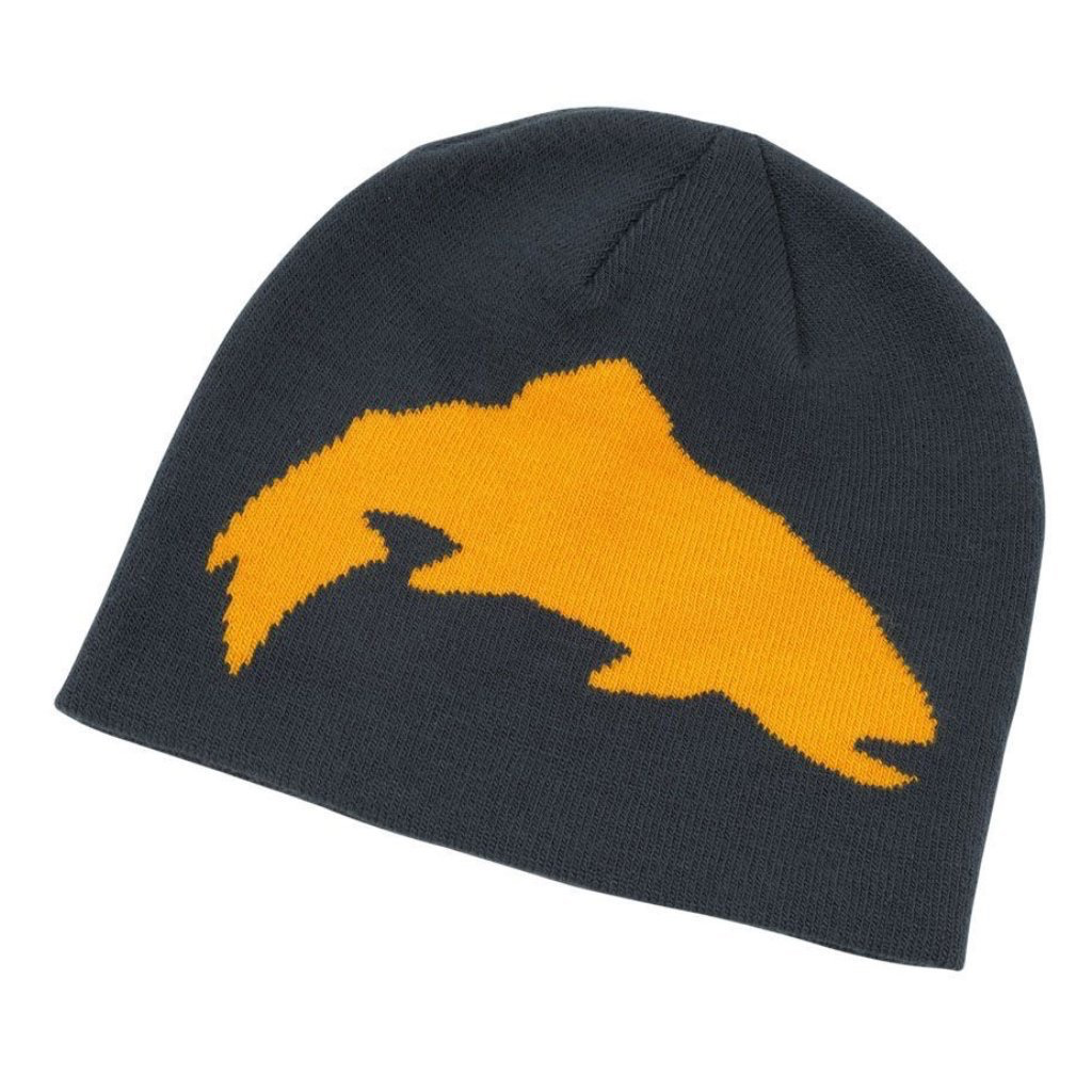Classic Trout Logo Beanie featuring the Simms jumping trout, zero side-seam construction and a one size fits most fit.