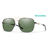 SMITH Double Down Matte Black Gold ChromaoPop Polarized Gray Green