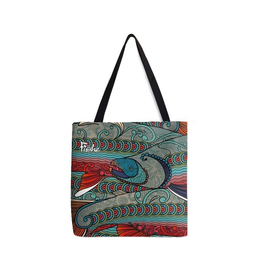 Fishewear Tote-Abstract Char