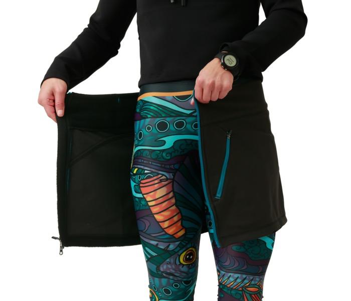 Allagash Solft Shell Skirt Black/Blue