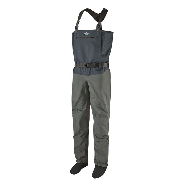 Engineered for fit, mobility and durability, Patagonia's heaviest weight, most fully featured waders feature an adjustable, quick-release suspender system for conversion from chest to waist height.