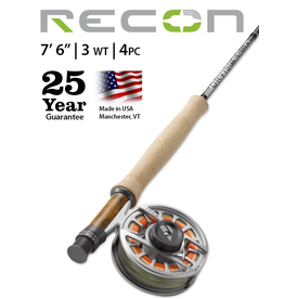 "NEW ORVIS Recon 7'6"" 3wt (4pc) Fly Rod"